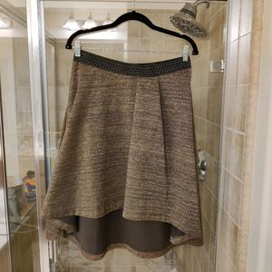 HD in Paris high low gold skirt size M